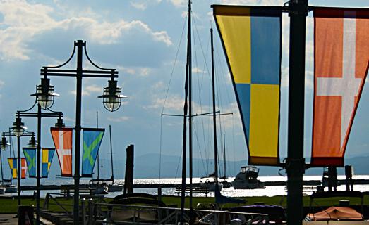 Dacron light pole banner