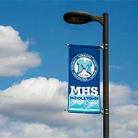marine acrylic light pole banner
