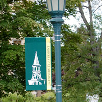 campus light pole banners