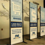 large format banner stands