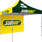 dye sub custom printed event tents