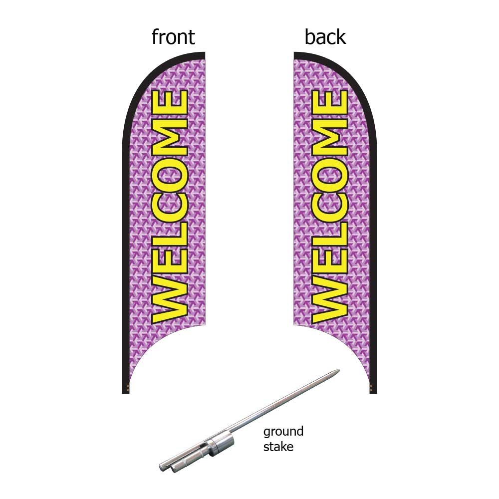 11ft. Blade Banner Kit #1 (Double Sided - Flag, Pole, Ground Stake, Carrying Case)