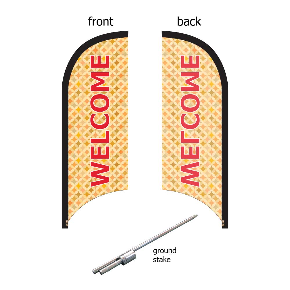 8ft. Blade Banner Kit #1 (Single Sided - Flag, Pole, Ground Stake, Carrying Case)