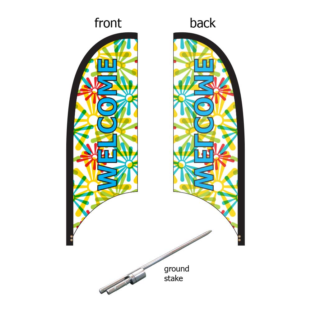 9ft. Blade Banner Kit #1 - Single Sided