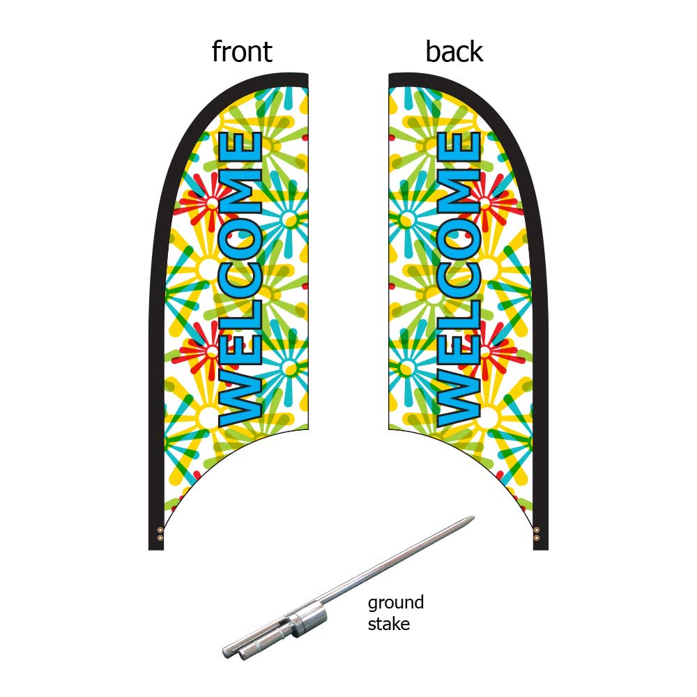 9ft. Blade Banner Kit #1 - Double Sided