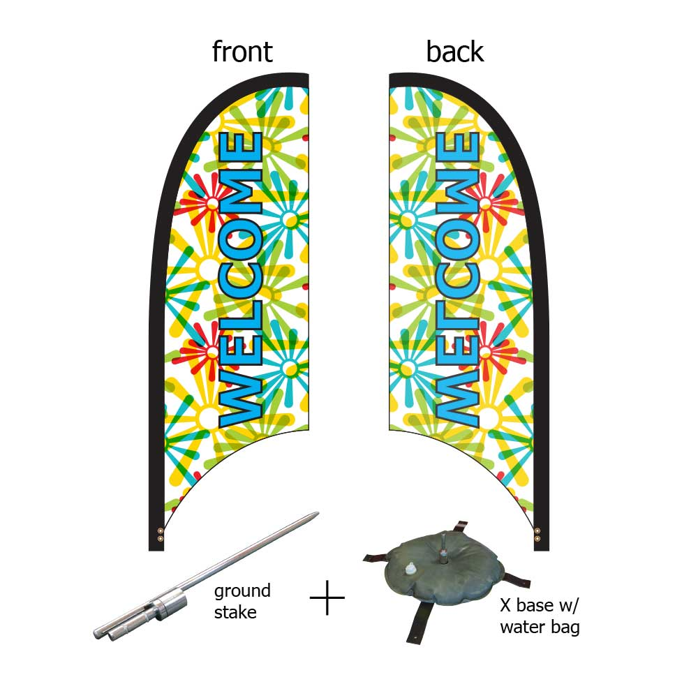 9ft. Blade Banner Kit #3 - Single Sided