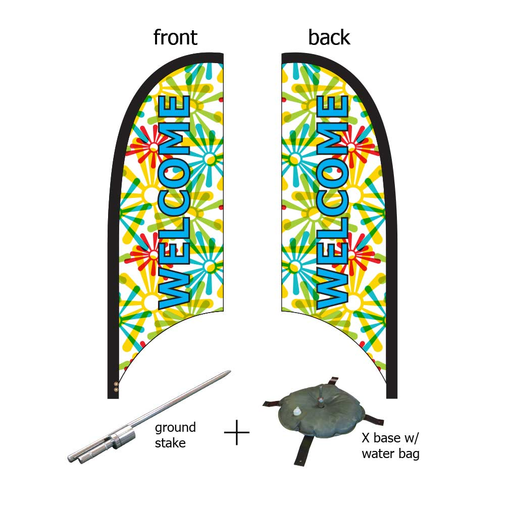 9ft. Blade Banner Kit #3 - Double Sided
