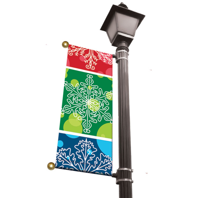 Holiday Light Pole Banners