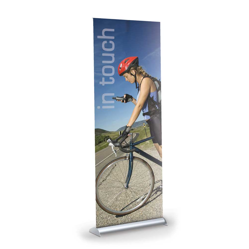 "24""x92"" Retractable Banner Stand Kit - Vinyl"