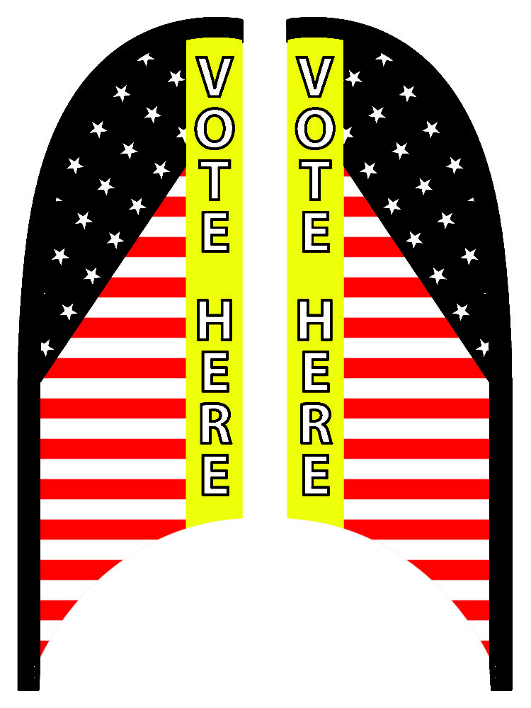 Vote Here - 9ft. Blade Banner Kit - Double Sided