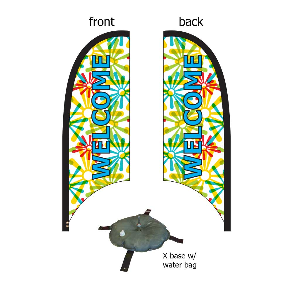 9ft. Blade Banner Kit #2 - Double Sided