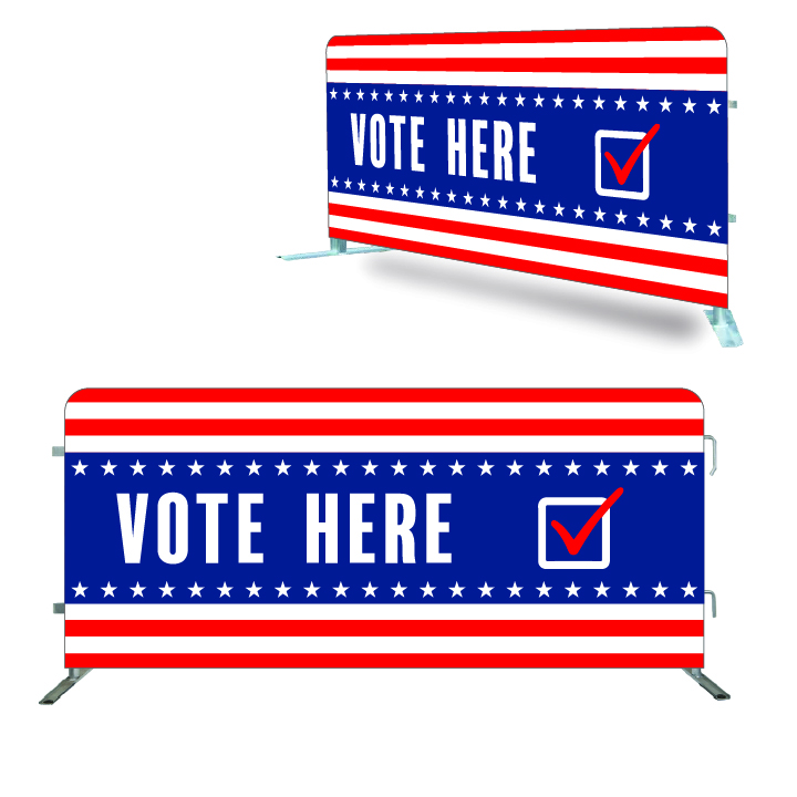 Vote Here - Crowd Barrier Covers