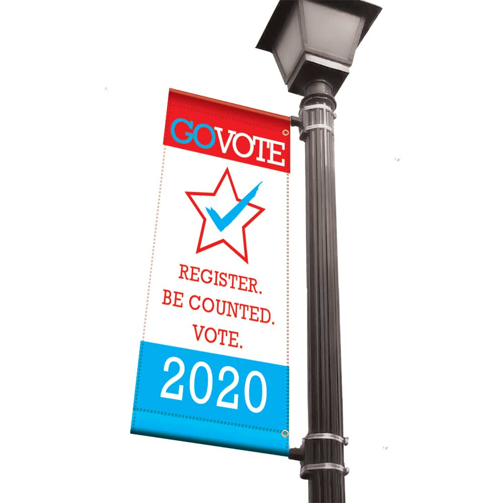 Your Vote Counts 2020 - Light Pole Banner - 18x36 Vinyl