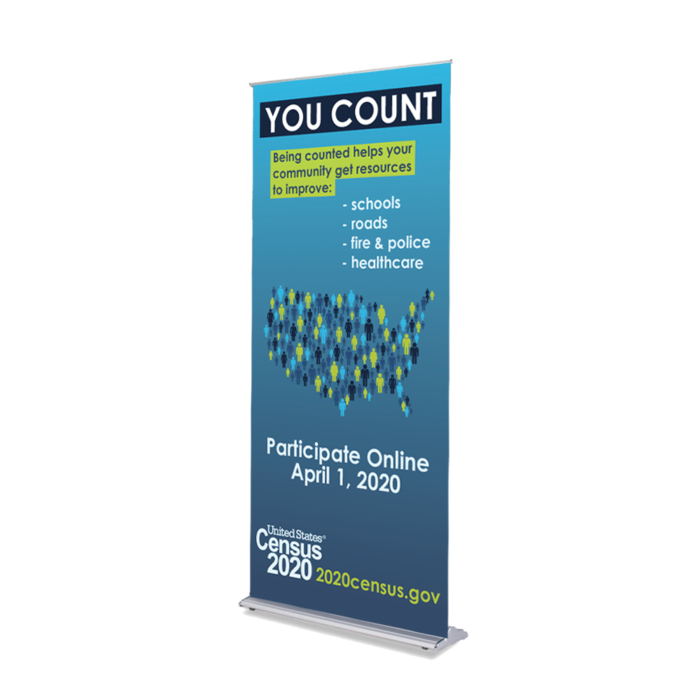 You Count - Blue Census Banner - 36