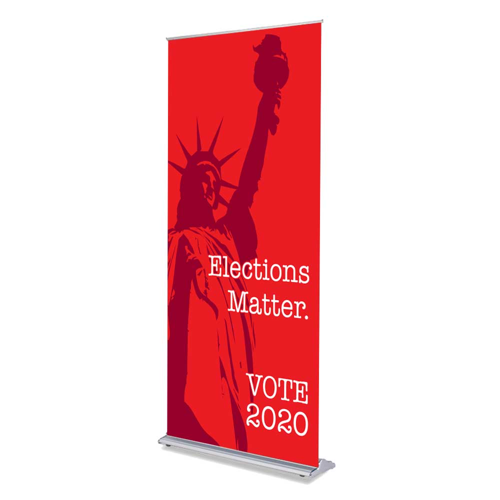 "Elections Matter - 36"" x 80"" Free-Standing Retractable Banner"