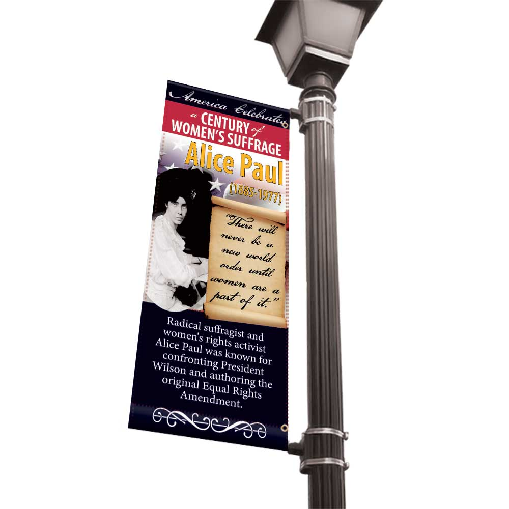 Women of American History Light Pole Banners - 30x60 Vinyl