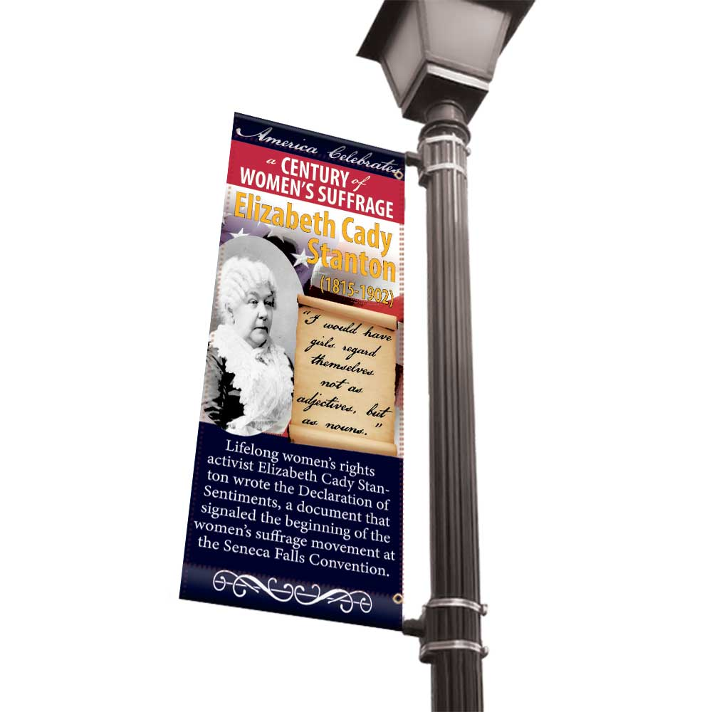 Women of American History Light Pole Banners - 24x48 Vinyl