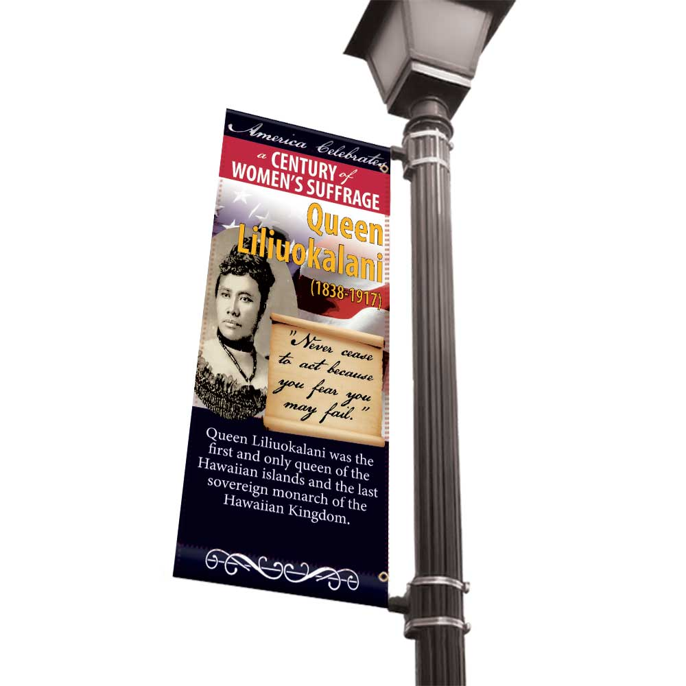 Women of American History Light Pole Banners - 18x36 Vinyl