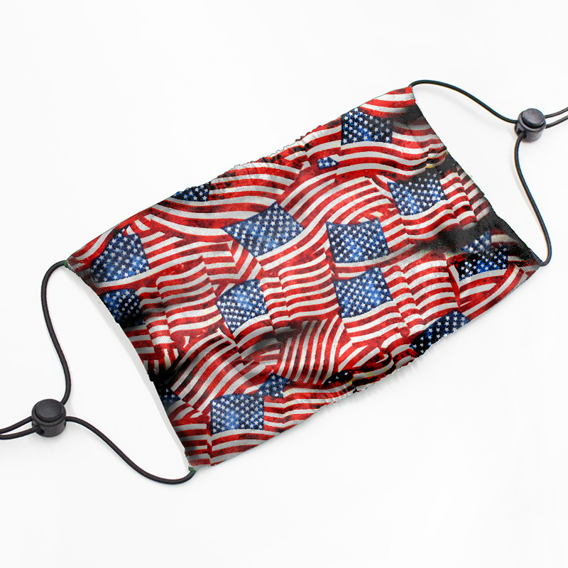 Patriotic Printed Fabric Masks