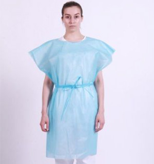 Patient Exam Gown (45gsm) - NR - Tie Waist  - Close Back
