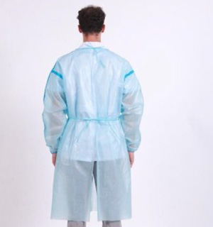 Chemotherapy Procedure PP/PE Gowns (45gsm) - L3 - Tie Waist - Full Back