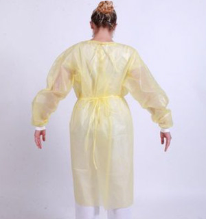 Chemotherapy Procedure PP/PE Gowns (45gsm) - L1 - Tie Waist - Full Back