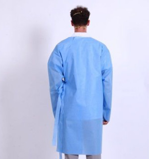 Isolation SMS Gowns (45gsm) - L2 - Tie Side - Full Back