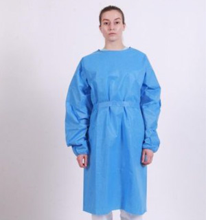Isolation PP/PE Gowns (45gsm) - L2 - Over-the-Head - Open Back