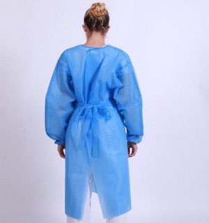 Isolation SMS Gowns (45gsm) - L2 - Tape & Tack - Full Back