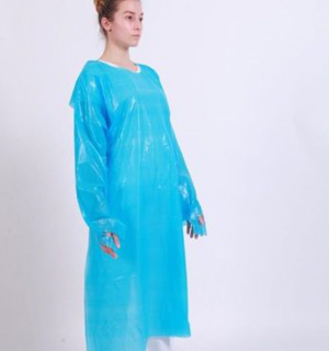 Isolation PE Gowns (25gsm) - NR - Tie Waste - Open Back