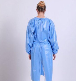 Isolation PET/TPU Gowns (74gsm) - L3 - Full Back
