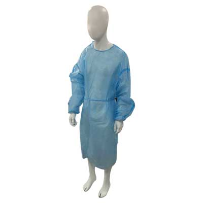 Isolation PP/PE Gowns (Level 3) - Closed Back